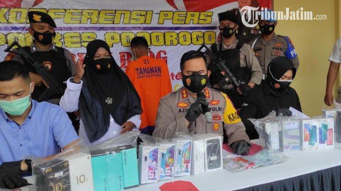 Pria Lampung Gasak 28 Ponsel Toko Artomoro Ponorogo, Sempat Intai Selama 6 Hari