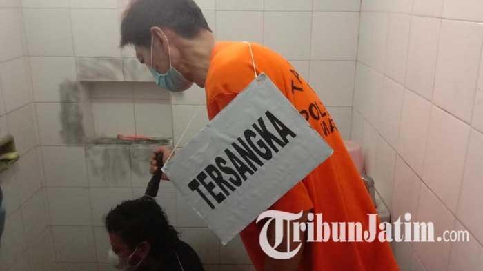 Polisi Gelar Rekonstruksi Pembunuhan Istri Siri di Malang, Tersangka Peragakan 55 Adegan