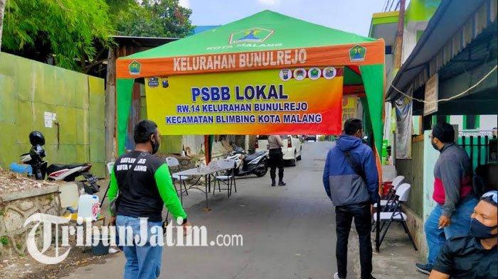 31 Warga Positif Covid-19, 1 RW di Kelurahan Bunulrejo Malang Terapkan PSBL, Akses Jalan Satu Pintu