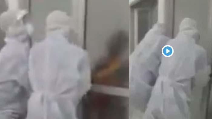 VIRAL VIDEO Kakek Probolinggo PDP Corona Ngamuk di RS, Tarik Pintu Coba Kabur, Terkuak Nasibnya Kini