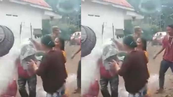 VIRAL VIDEO Kakek ODP Corona Pulang Disambut Pesta, Disiram Tepung-Air, Tawa & Kembang Api Mewarnai