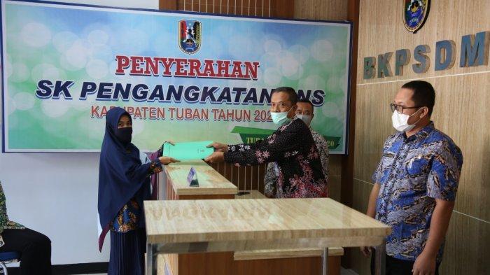 Cegah Covid-19, Sebanyak 293 CPNS Kabupaten Tuban Terima SK Pengangkatan Bertahap Selama 3 Hari