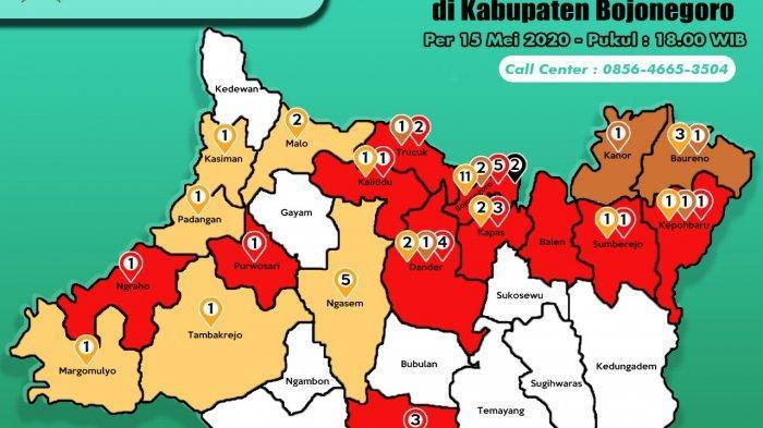 UPDATE CORONA Bojonegoro Kamis 21 Mei, 2 PDP Naik Status Positif, Jumlah Pasien Covid-19 39 Orang