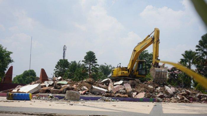 Tugu Alun-alun Kota Mojokerto Dibongkar Dinganti Tugu Majapahit Setinggi 45 Meter
