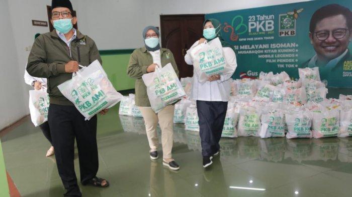 Harlah Saat Pandemi, PKB Jatim Sebar 20 Ribu Paket Sembako Untuk Warga Isoman