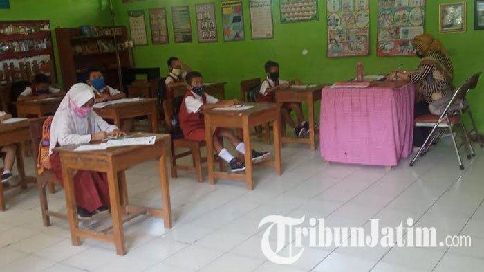Simulasi Belajar Mengajar New Normal, SD di Lamongan Terpaksa Hentikan, Kondisi Sulit Dikendalikan