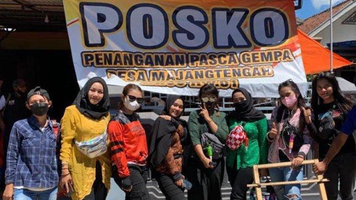 Selebgram Lady Biker Salurkan Bantuan Secara Langsung untuk Korban Gempa di Malang