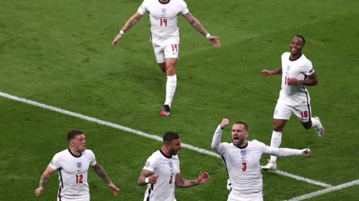 Hasil Babak I Italia Vs Inggris - Gol Kilat Luke Shaw, Bawa The Three Lions Sementara Unggul