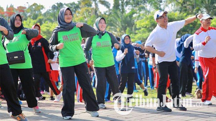 Unik, Ramuan Musik Tradisional dan Olahraga Jadilah Senam I Love Banyuwangi