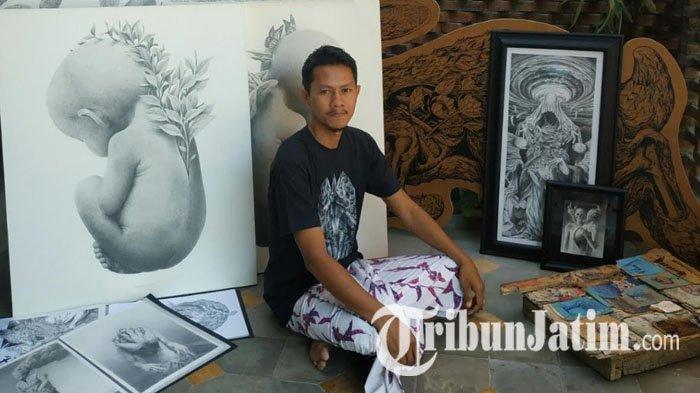 Kiprah Garis Edelweiss, Seniman Drawing Spesialis Media Pensil Asal Pasuruan