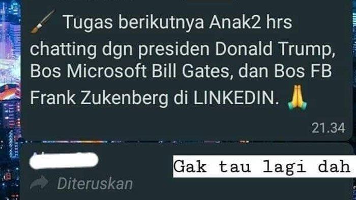 VIRAL Tugas dari Guru SMP di Malang Tak Masuk Akal, Disuruh Chat Donald Trump hingga Mark Zuckerberg