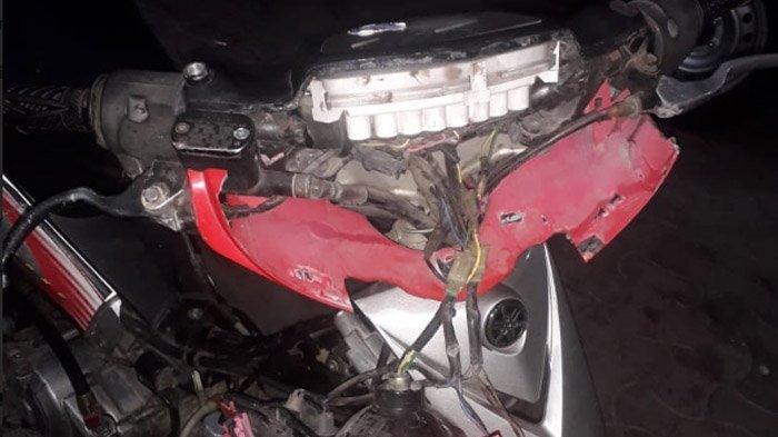 Mabuk Pulang Pesta Miras, Pemuda di Kediri Tabrak Trotoar hingga Terjungkal, Kondisi Motor Hancur