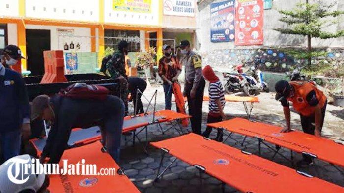 Siaga Penyebaran Covid-19, Pemdes Junrejo Bangun Shelter Memanfaatkan Gedung SMP Diponegoro