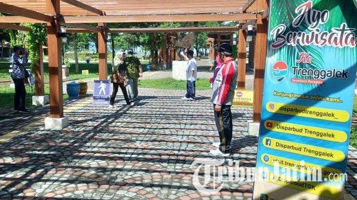 Pantai Prigi Trenggalek Simulasi SOP New Normal, Kuota Pelancong Penuh Akan Dialihkan ke Wisata Lain