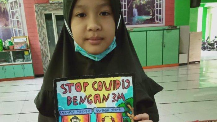Curhat Siswi di Gresik Pemenang Kontes Poster 3M: Saya Rindu Kembali ke Sekolah