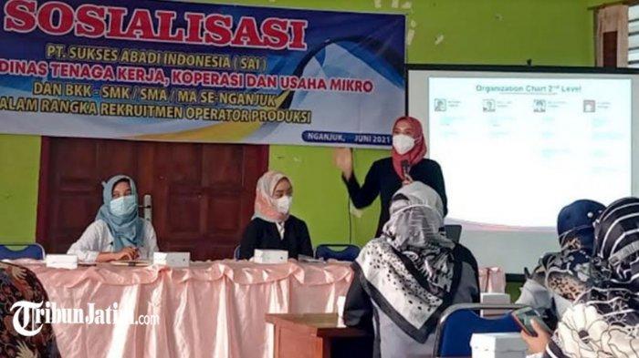 Mudahkan Warga Kabupaten Nganjuk Mencari Kerja, Disnakerop UM Fasilitasi Perusahaan Pencari Pekerja