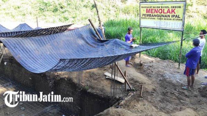Merasa Tak Diajak Bicara, Warga Tolak Pembangunan Ipal Komunal di Kelurahan Gedog Kota Blitar