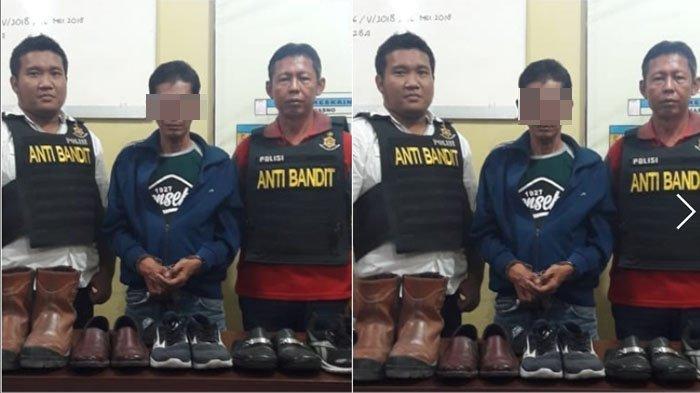Beraksi di Masjid, Spesialis Pencuri Sepatu Asal Dukuh Pakis Surabaya Ditangkap Polisi