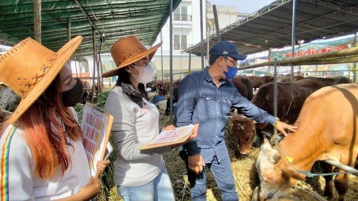 SPG ala Coboy Tarik Minat Pembeli Hewan Kurban di Surabaya