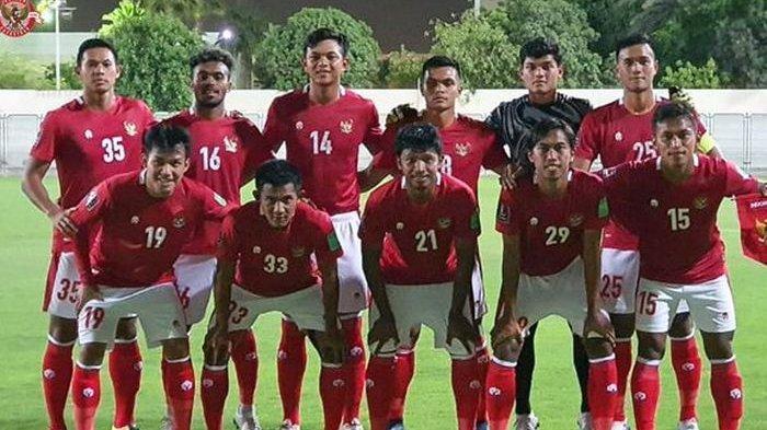 Starting XI timnas Indonesia pada laga uji coba kontra Afghanistan jelang Kualifikasi Piala Dunia 2022 Zona Asia.