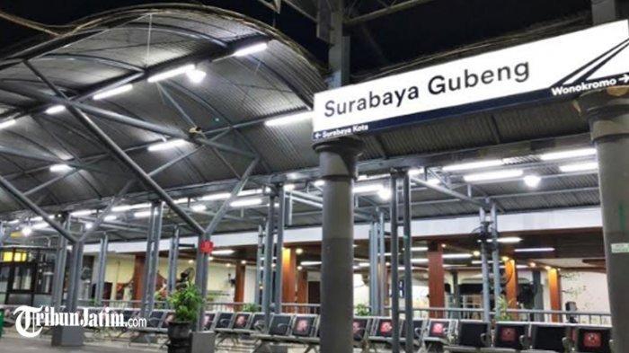 Sepinya Stasiun Gubeng Surabaya di Hari Pertama Larangan Mudik Lebaran 2021, Penumpang Turun Drastis