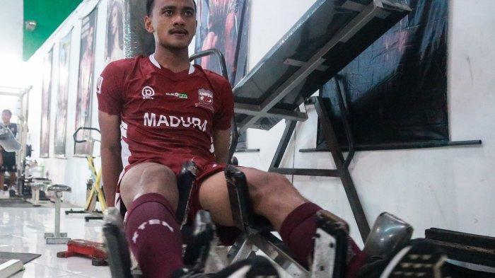 Latihan Tim Diliburkan, Striker Madura United Tetap Rajin Nge-Gym
