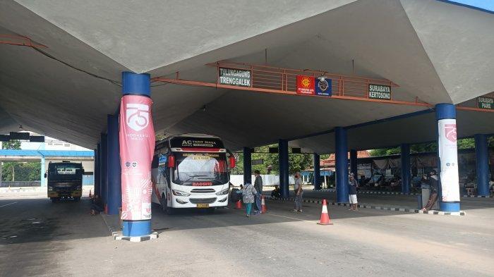 Selama PPKM Mikro Darurat Jumlah Penumpang Bus di Terminal Tamanan Kota Kediri Menurun
