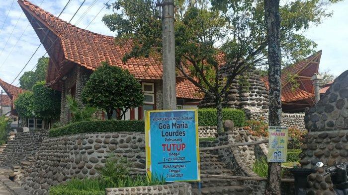 Selama PPKM Mikro Darurat Wisata Religi Goa Maria Pohsarang Ditutup dan Tak Lakukan Kegiatan