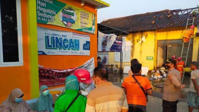 Sempat Terdengar Ledakan, Satu Ruangan di Puskesmas Ngadiluwih Kediri Terbakar