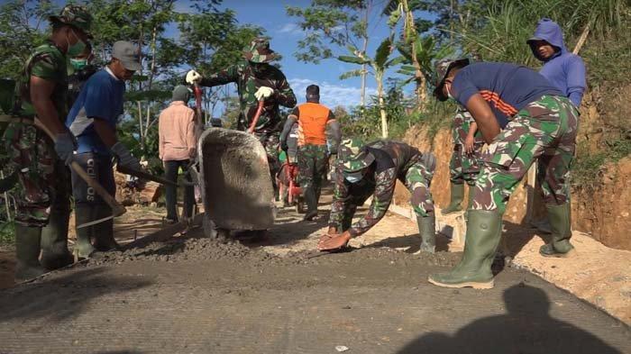 Sebelum Jalankan Pembangunan di Desa-desa, Satgas TMMD Kodam V/Brawijaya dan Warga Dirapid Test