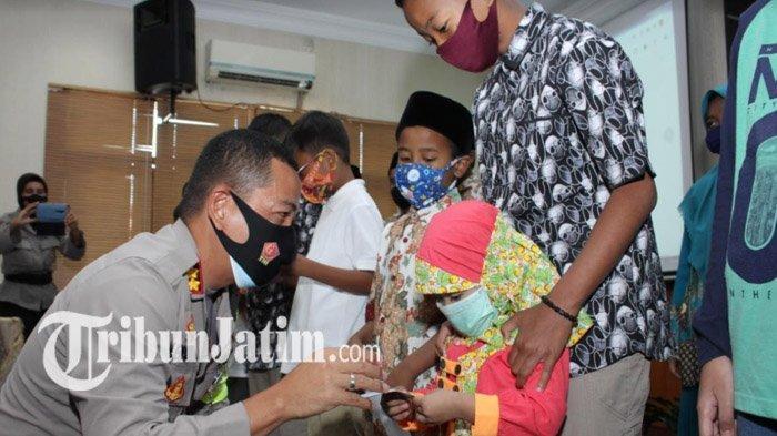 Puncak HUT Polwan ke-72, Polresta Malang Kota Gelar Tasyakuran dan Beri Santunan Anak Yatim Piatu
