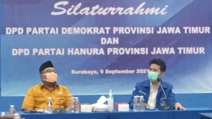 DPD Demokrat dan Hanura Jatim Bertemu, Eratkan Kolaborasi di Momentum HUT ke-20