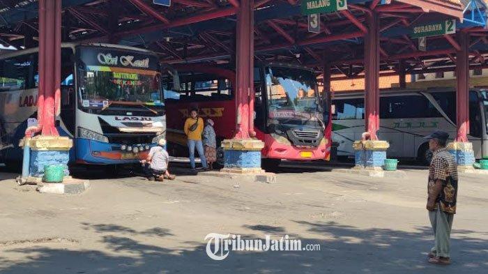 Terminal Bayuangga Probolinggo Sepi Penumpang Saat PPKM Darurat, Banyak Bus AKAP Tak Beroperasi