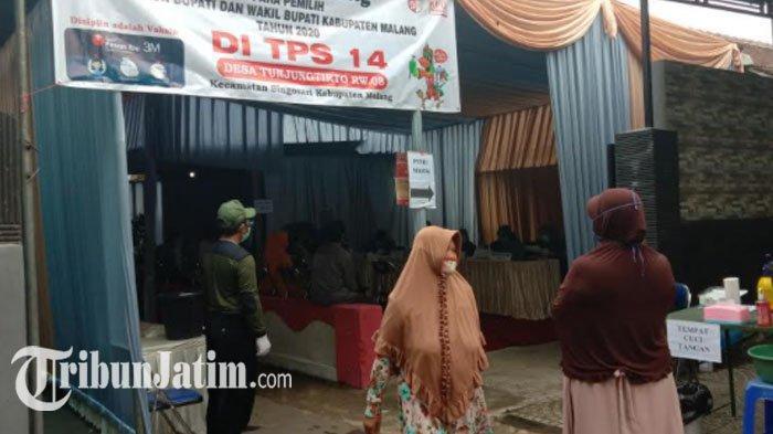 Suasana TPS 14 Desa Tunjungtirto Singosari Malang, Tempat Didik Gatot Subroto Akan Mencoblos