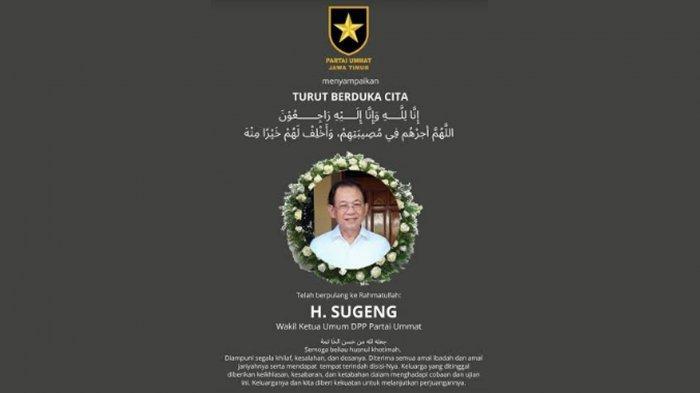 Kenang Perjuangan Almarhum Sugeng, Partai Ummat Jatim Ingat Pesan 'Berjuang Harus Totalitas, Ikhlas'