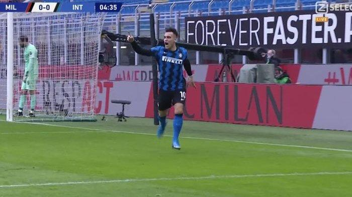 Gol Cepat Lautaro Martinez, Runtuhkan Keperkasaan AC Milan di Babak I
