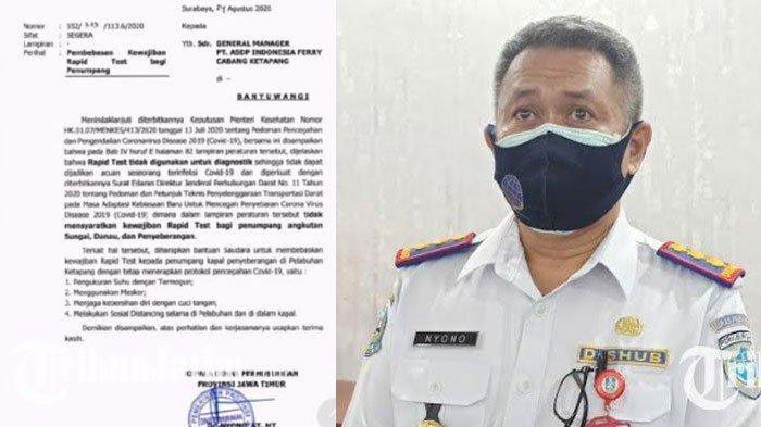 Dishub Jatim Minta Hapus Syarat Rapid Test PenumpangPelabuhan Ketapang, Cukup Protokol Covid-19