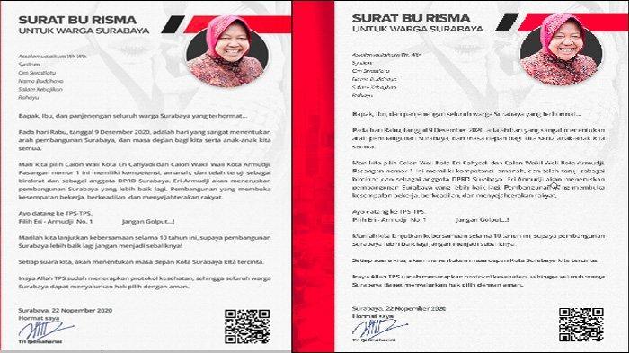 Tanggapan Akademisi Soal Surat Tri Rismaharini ke Warga dalam Pilwali Surabaya