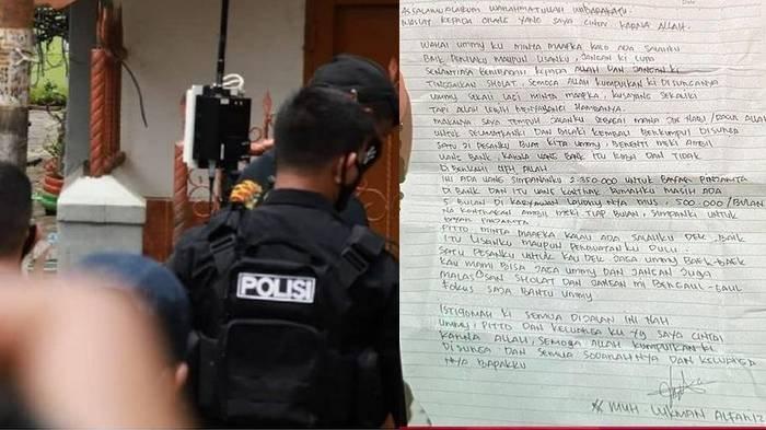 Beredar surat wasiat yang diduga ditulis langsung oleh terduga pelaku bom bunuh diri di Gereja Katedral Makassar, Lukman (26).