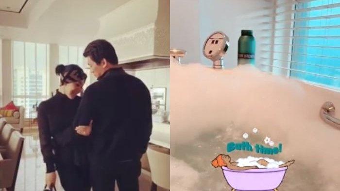 Syahrini di kamar mandi setelah menikah dengan Reino Barack.