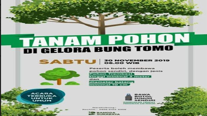 Aksi Tanam Pohon Serentak Digelar Pemkot Surabaya di Stadion GBT Besok, Risma & Semua OPD Bakal Ikut