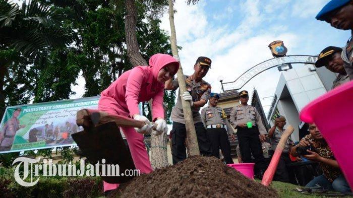 Polrestabes Surabaya Galakkan Reboisasi Hadapi Rawan Bencana, Targetkan Tanam 10.000 Pohon