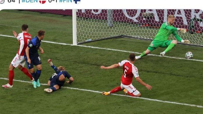 Hasil Euro 2020 - Christian Eriksen Kolaps, Finlandia Tumbangkan Denmark di Laga Debut