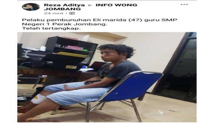 Ditangkapnya Pembunuh Guru SMPN 1 Perak Jombang, Sempat Heboh Beredar di FB, Lihat Komentar Warganet