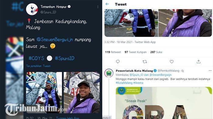 Pemain Tottenham 'Mampir' ke Jembatan Kedungkandang, Pemkot Malang: Biar Sedihnya Terobati