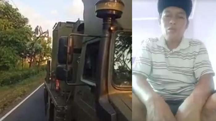 Viral Video Truk di Lumajang Enggan Beri Jalan Rombongan TNI, Sopir Minta Maaf dan Jelaskan Kejadian