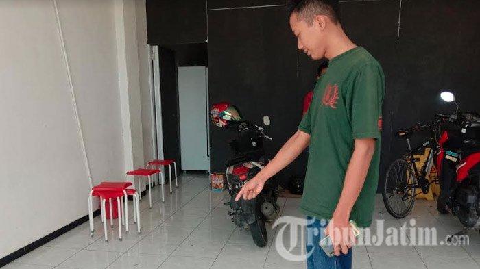 Aksi Nekat Maling Motor di Malang, Curi Honda Vario di Parkiran, Gerak-gerik Pelaku Terlihat Jelas