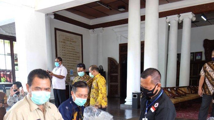 Cegah Corona dengan Cuci Tangan, Pemkab Mojokerto Terima Bantuan 15 Tangki Air Anti Virus Mpoin