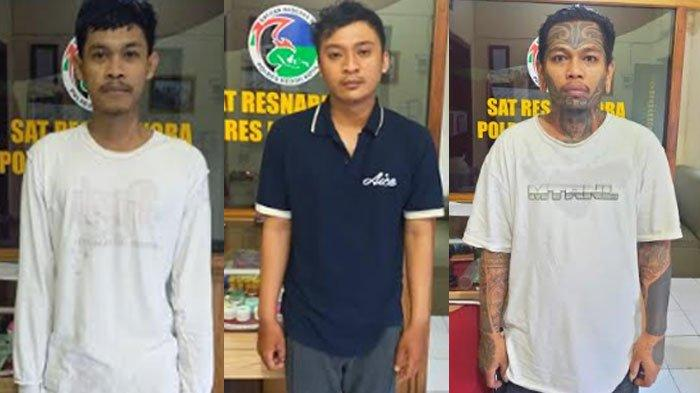 Trio Pengedar Daun Ganja Kering Tertangkap,Dikeler ke Mako Polres Kediri Kota