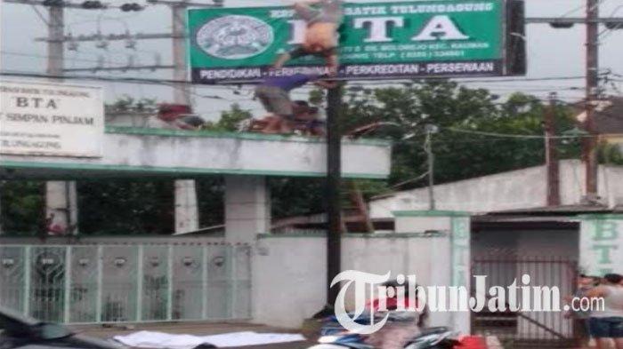Ini Identitas Pria yang Menggantung di Atas Papan Reklame Karena Tersengat Listrik PLN Bolorejo